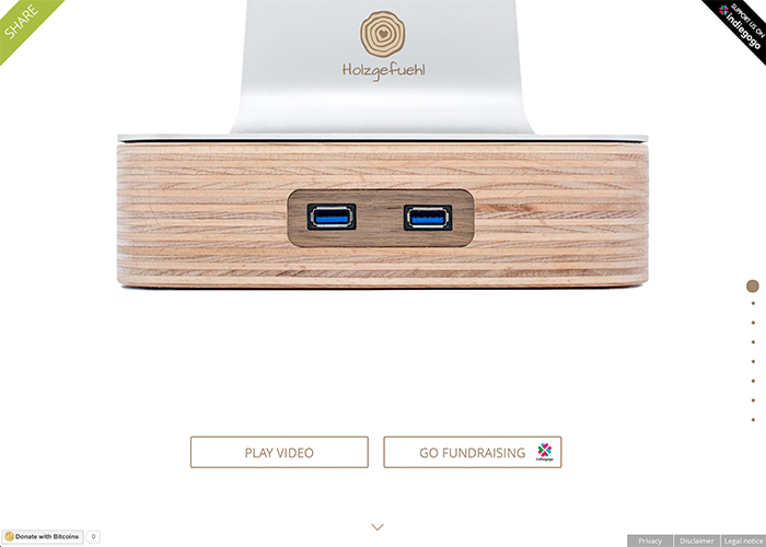 holzgefuehl - Raise your iMac with wood and USB 3.0