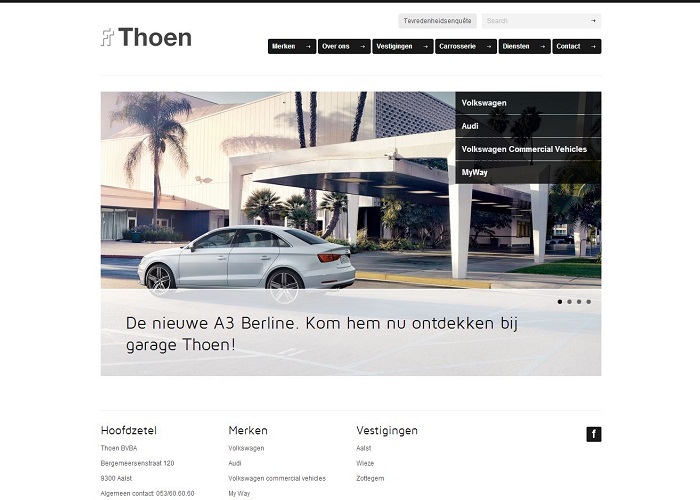 New website Garage Thoen VW Audi