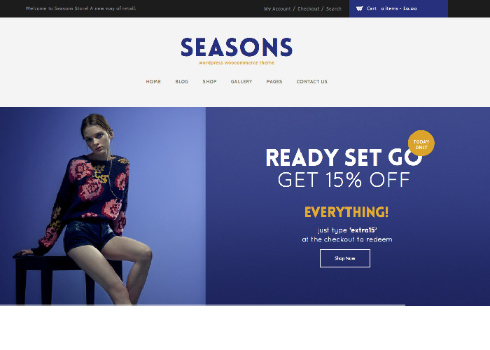 Seasons - WordPress WooCommerce Theme