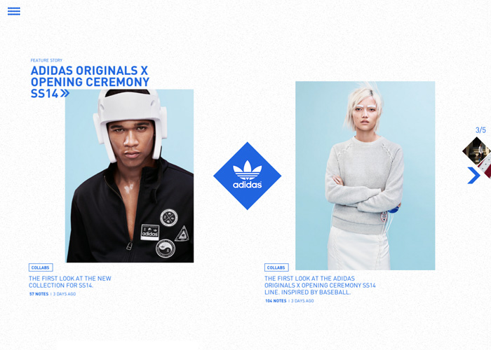 Adidas Originals Tumblr blog