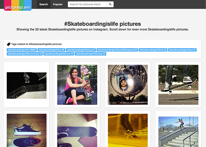 Picturegr.am Instagram Search Engine