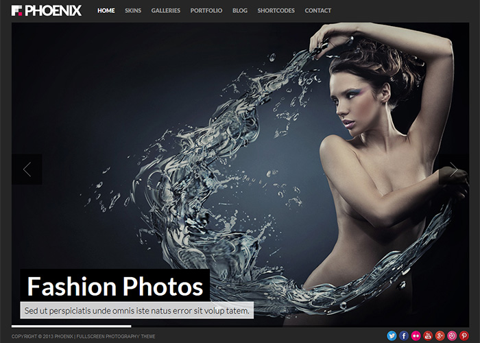 Phoenix Fullscreen Photography Theme