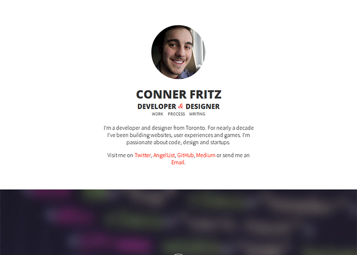 Conner Fritz - Developer & Designer