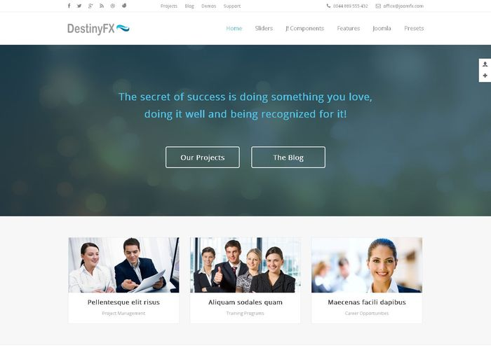DestinyFX - Corporate Joomla Template