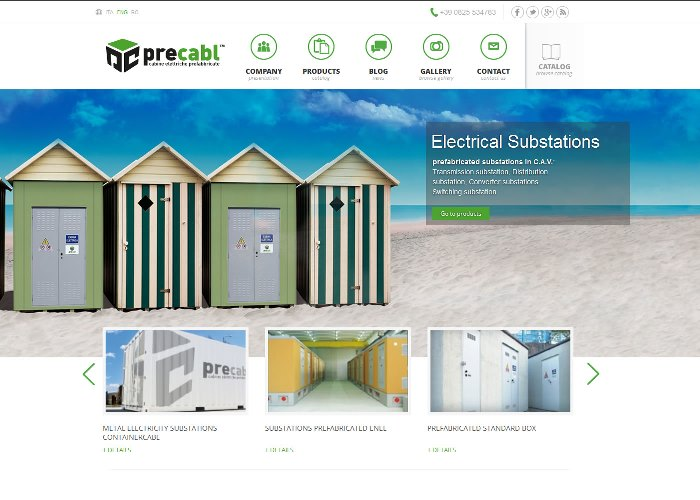 Precabl:Electrical Substations prefabricated substations: trasmission, distribution