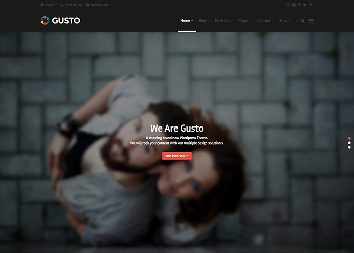 Gusto Vanguard Wordpress Theme
