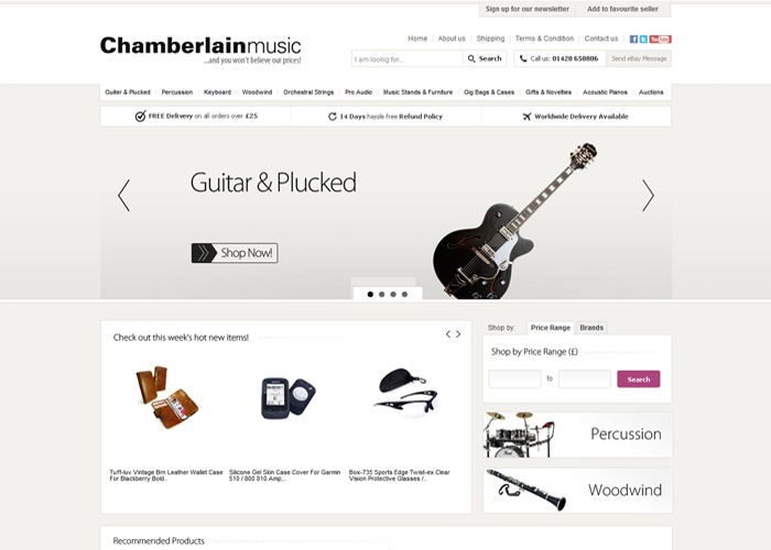 Chamberlain Music ebay shop