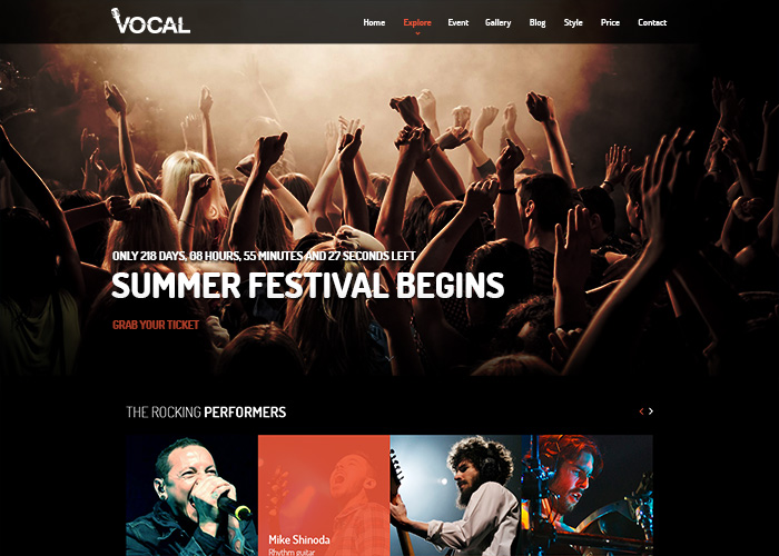 Vocal - Joomla Music Template