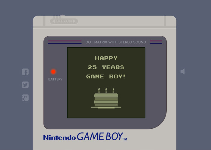 Happy Birthday Game Boy