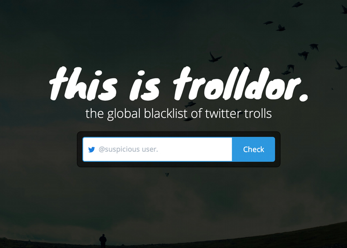 Trolldor, the global blacklist of twitter trolls