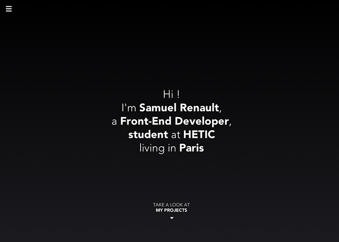 Samuel Renault, Front-End developer