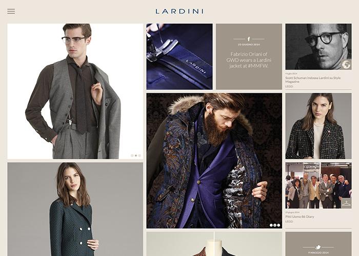 Beautiful italian fashion collection website lardini for Italian fashion websites