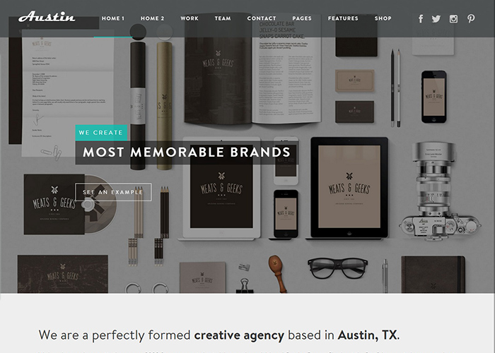 Austin - Design Agency WP Theme