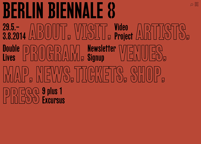 8th Berlin Biennale for Contemporary Art