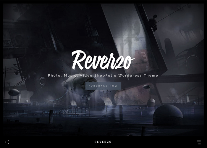 Reverzo | Photo, Music & Video Creative ShopFolio Wordpress Theme