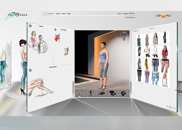 triMirror Virtual Fitting Room
