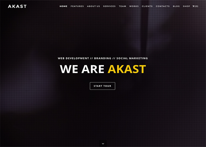 Akast - One & Multi-Page Premium Theme