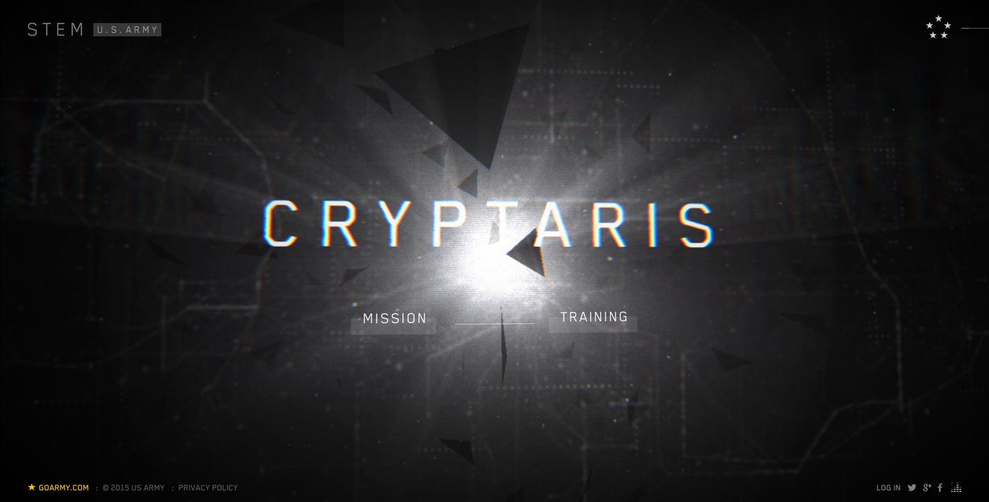 CRYPTARIS - US Army Web Design 2016