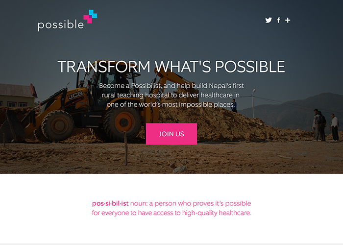 Transform What's Possible | CSS Website