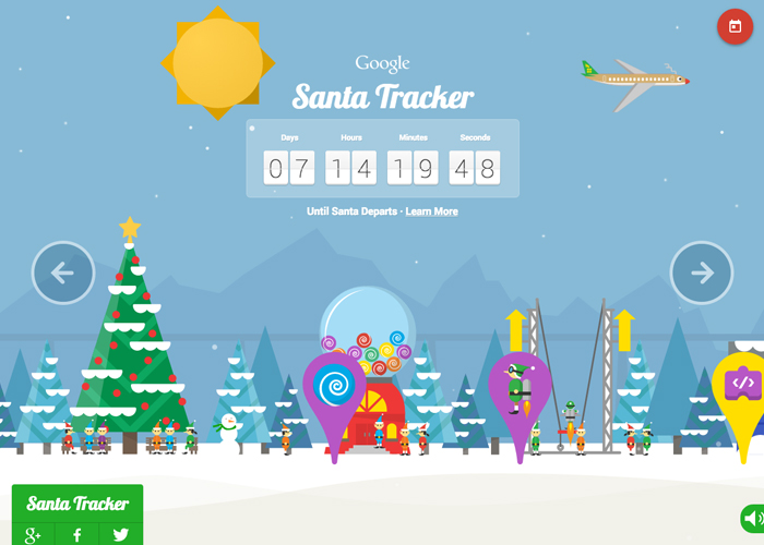 Google Santa Tracker 2014 | CSS Website