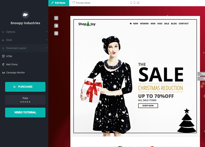 Shop&Joy - Commerce Email + Template Builder Acces | CSS Website