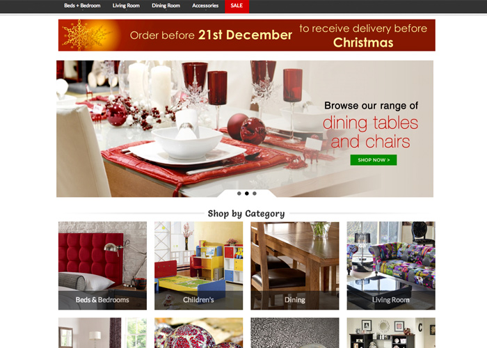 Online4furniture ebay store design | CSS Website