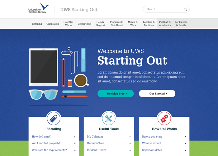 Starting at UWS | CSS Website