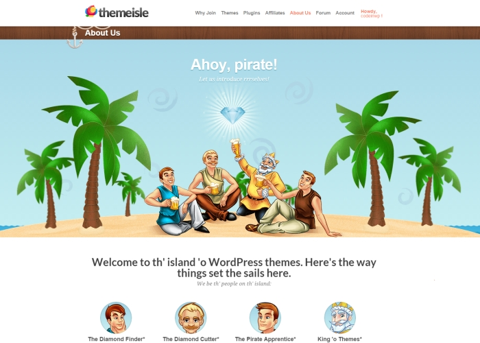 ThemeIsle - WP Themes for Pirates | CSS Website