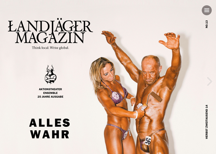 Landjäger Magazin No. 13 | CSS Website