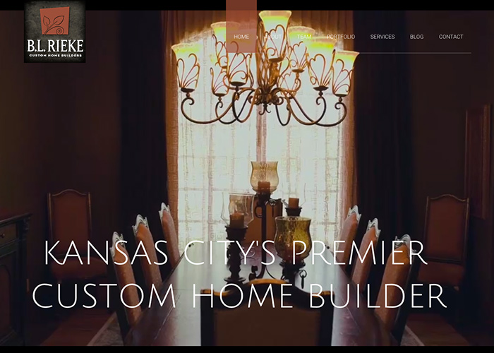 B.L Rieke Custom Homes | CSS Website