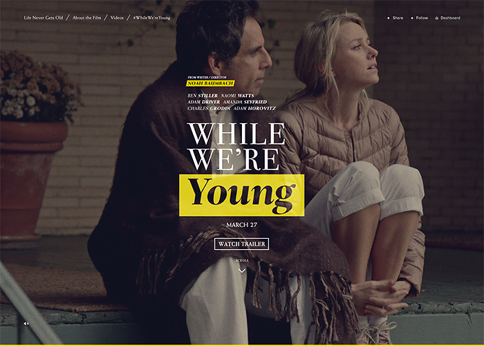 While We're Young | CSS Website