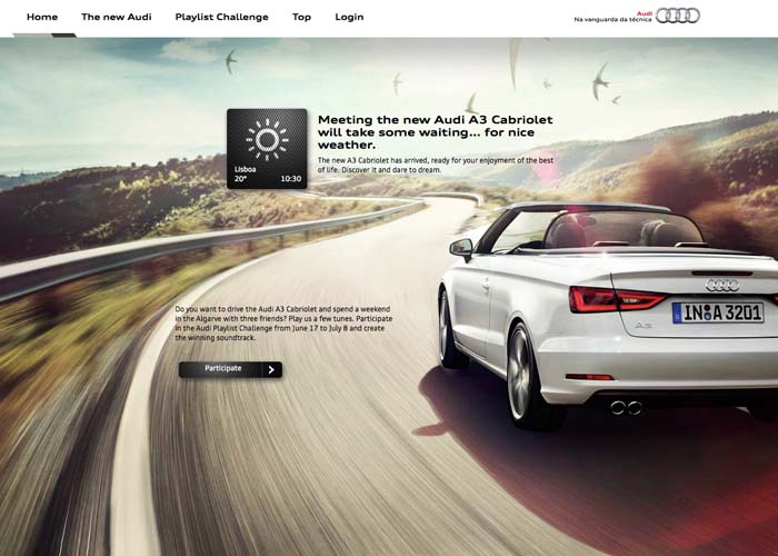 Audi A3 Cabriolet - The car with a convertible website. | CSS Website