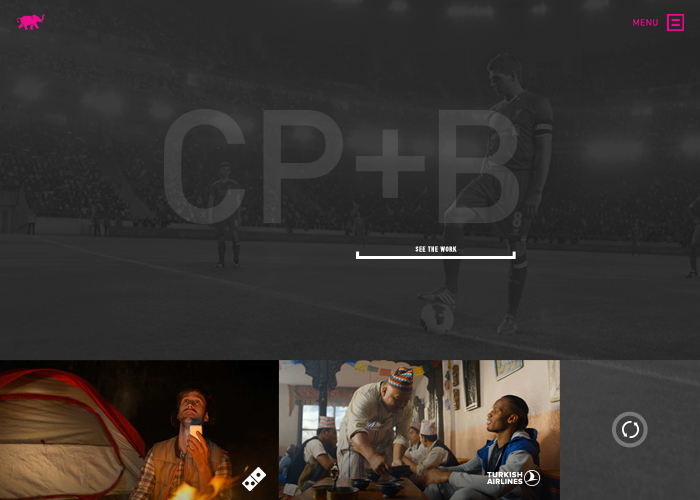 Awwwards website of the day: CP+B Agency Website