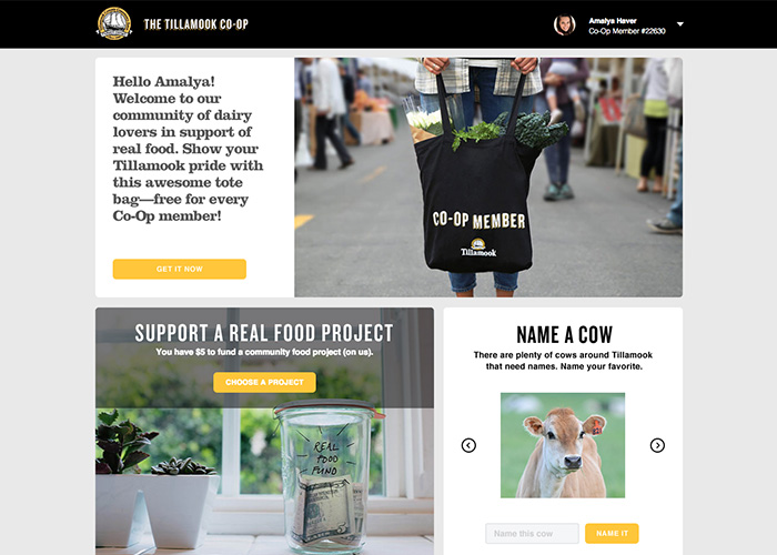 The Tillamook Co-Op | CSS Website
