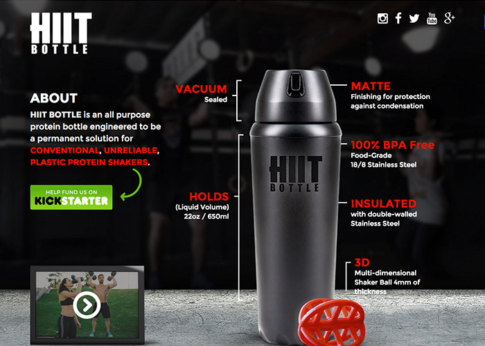 HIIT Bottle | CSS Website