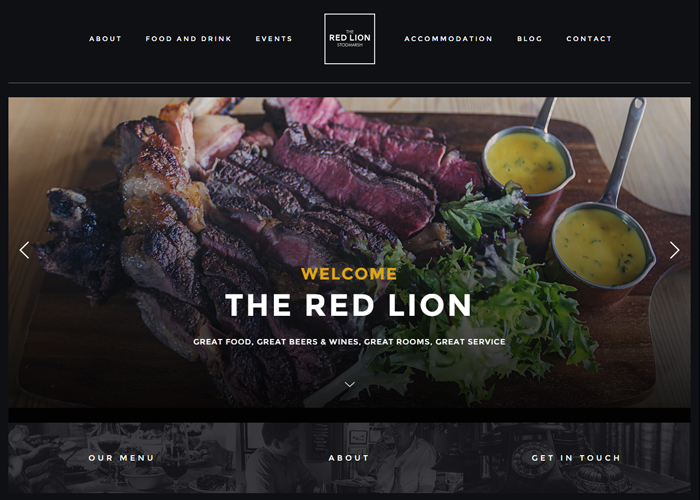 The Red Lion | CSS Website