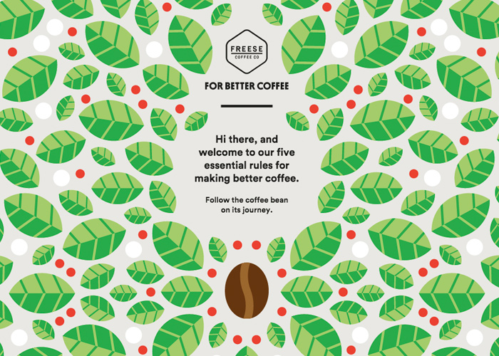 Awwwards website of the day: For Better Coffee