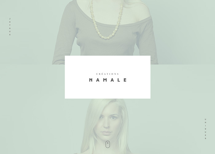 Awwwards website of the day: Créations Namale