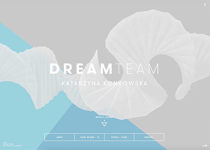 Awwwards website of the day: Dream Team Katarzyna Konkowska
