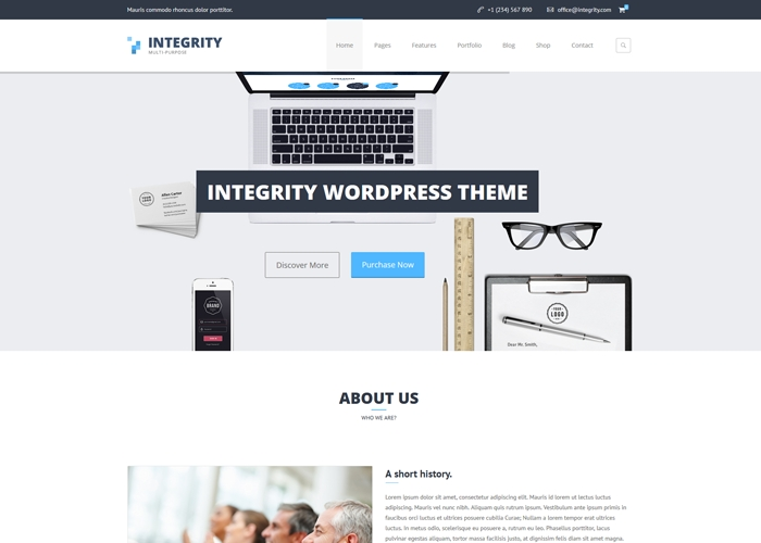Integrity - Business WP Theme | CSS Website