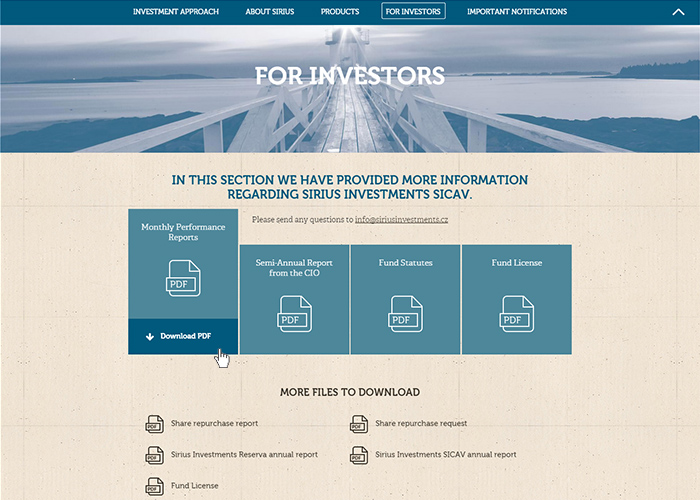 Sirius Investments | CSS Website
