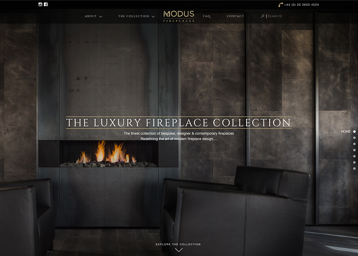 Modus Fireplaces | CSS Website