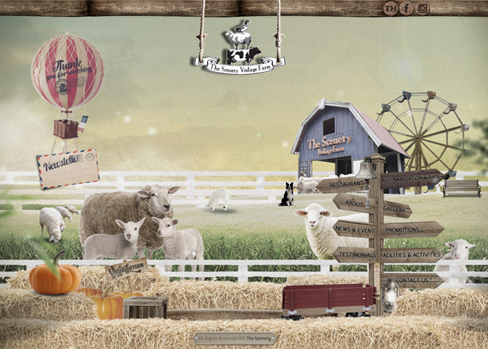 The Scenery Vintage Farm | CSS Website