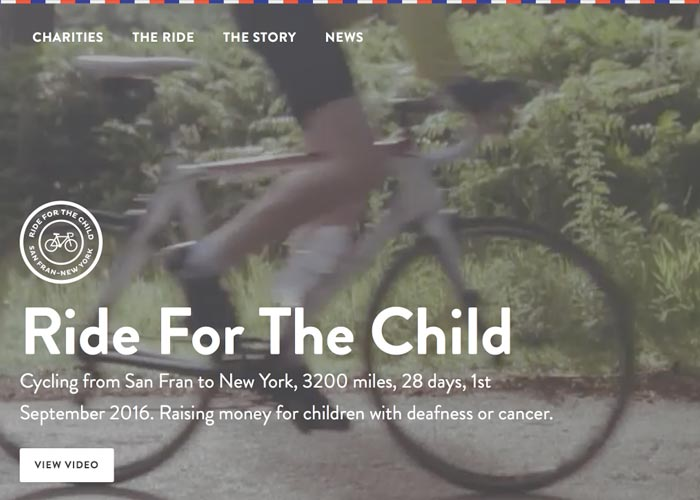 Ride For The Child | CSS Website