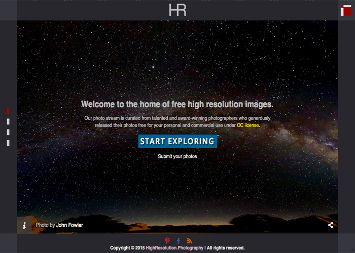 High Resolution Photography | CSS Website