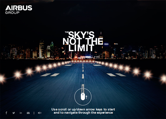 Airbus Group - The Sky Is Not The Limit | CSS Website