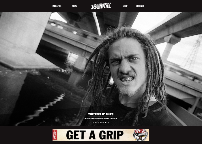 The Skateboarder's Journal | CSS Website