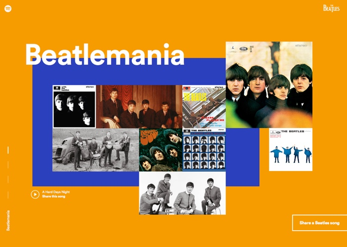 Beatles on Spotify | CSS Website