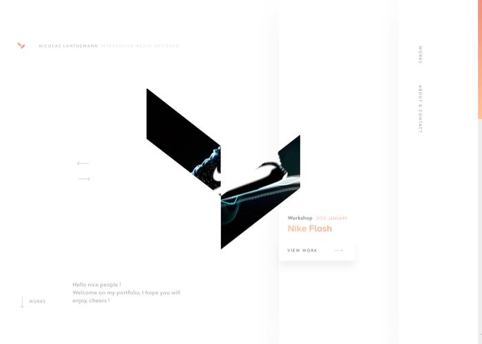 Awwwards website of the day: Vanderlanth Portfolio