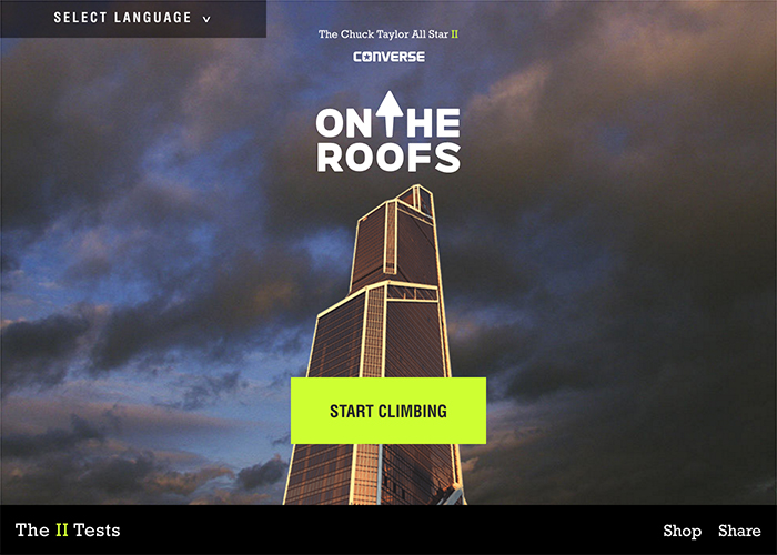 Awwwards website of the day: Converse: On The Roofs